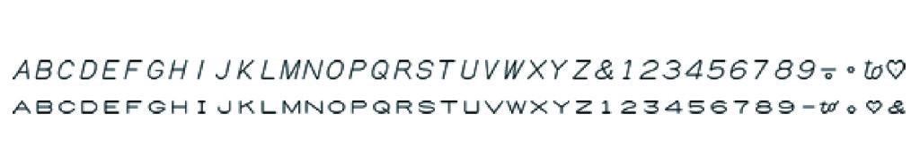 印字機フォント