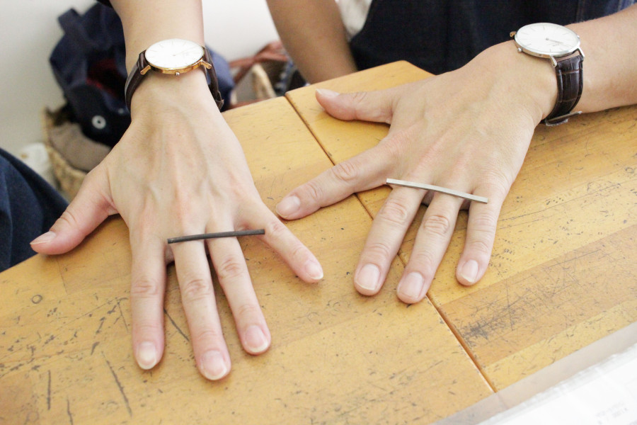 手作り結婚指輪S様2