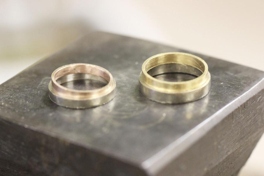 手作り結婚指輪A様10