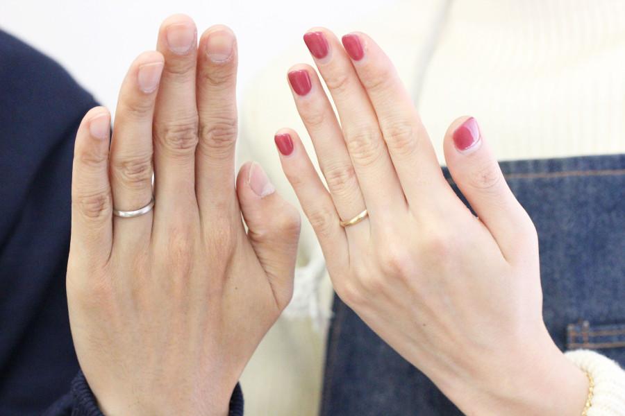 手作り結婚指輪K様1