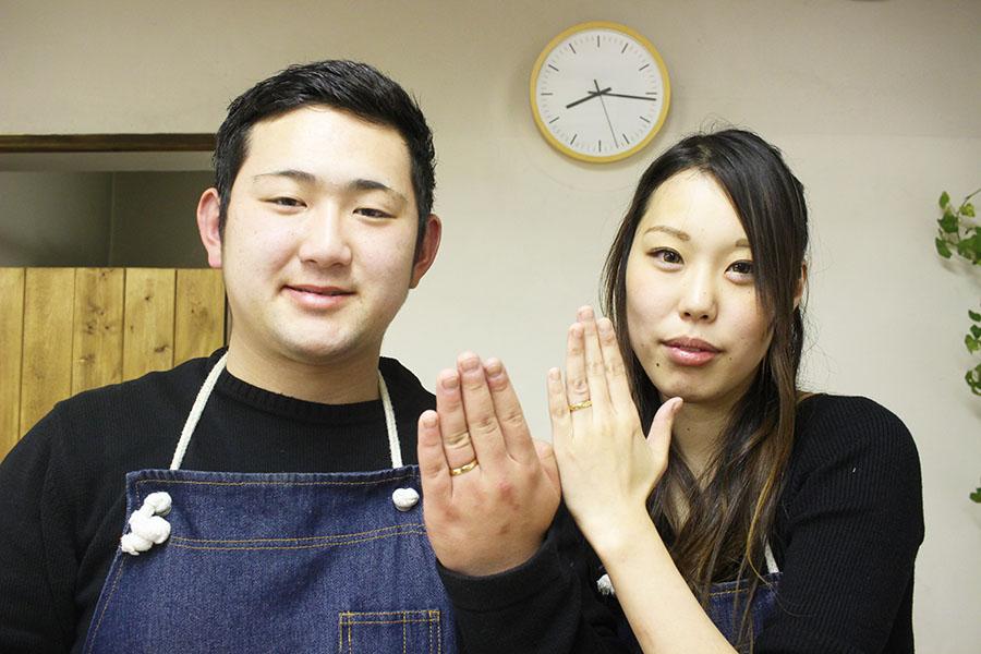 手作り結婚指輪M様16