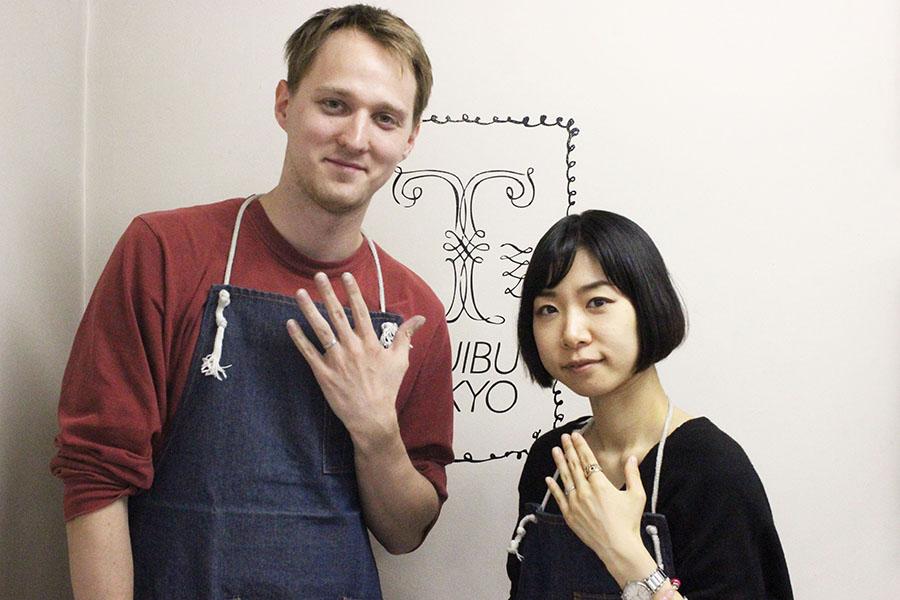 手作り結婚指輪K様11