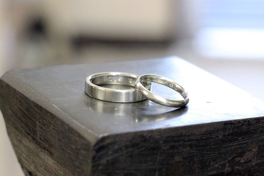 手作り結婚指輪K様12