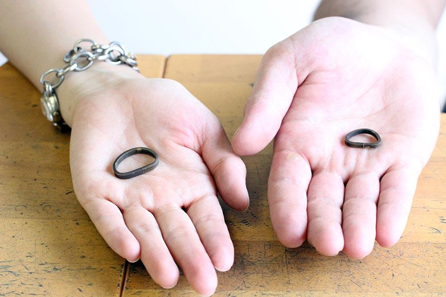手作り結婚指輪H様7