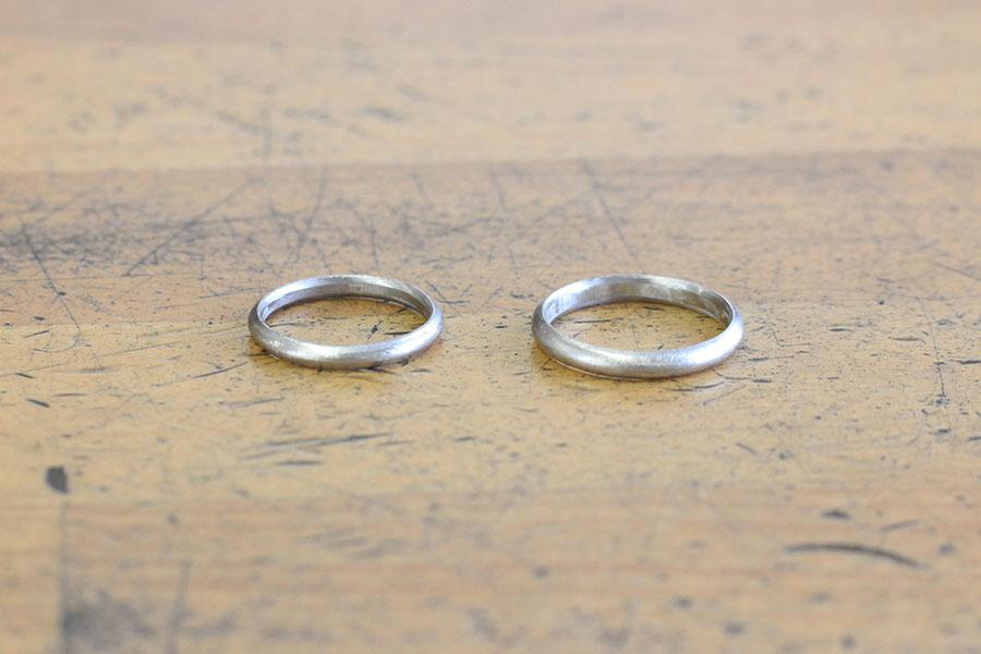 手作り結婚指輪Y様9