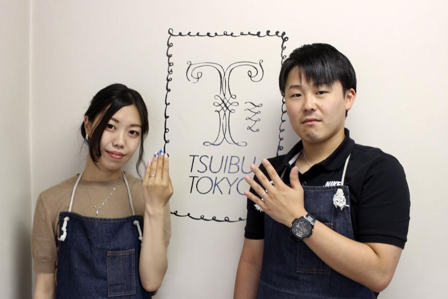 手作り結婚指輪K様17