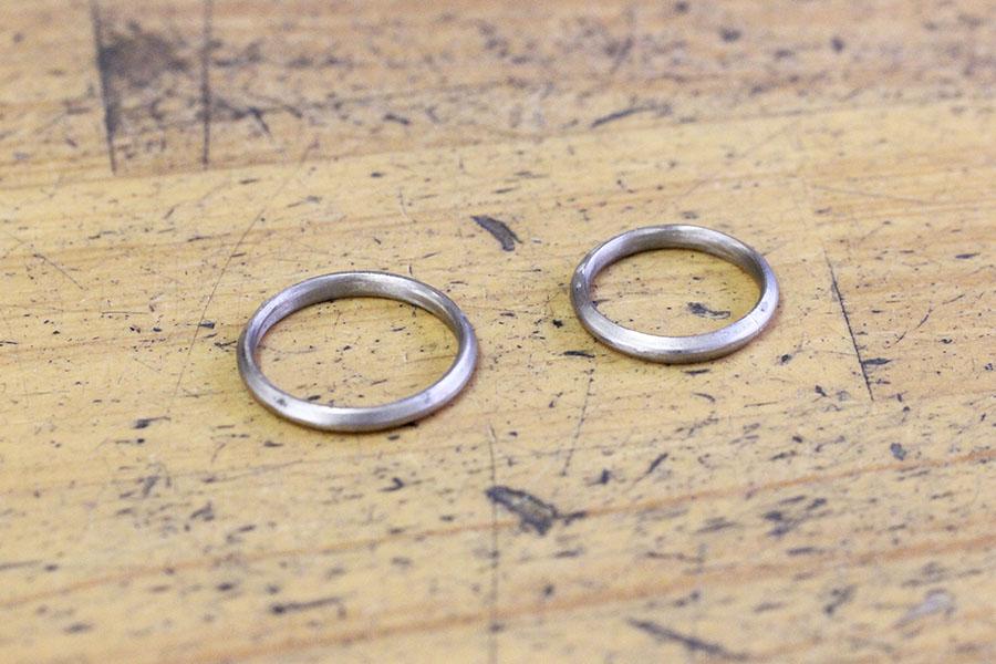 手作り結婚指輪O様12