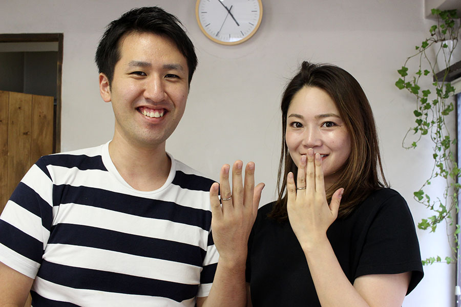 手作り結婚指輪O様17