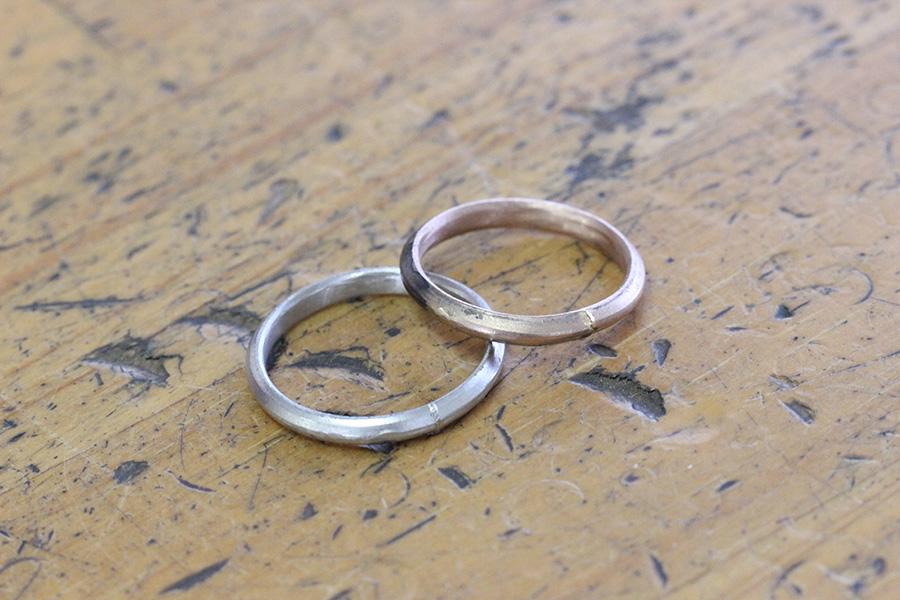 手作り結婚指輪T様10
