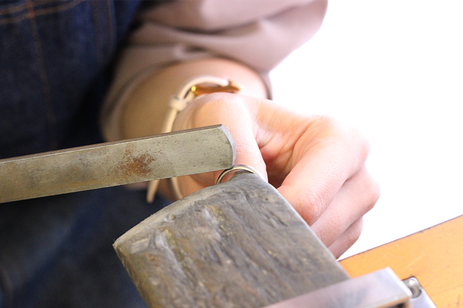 手作り結婚指輪T様13