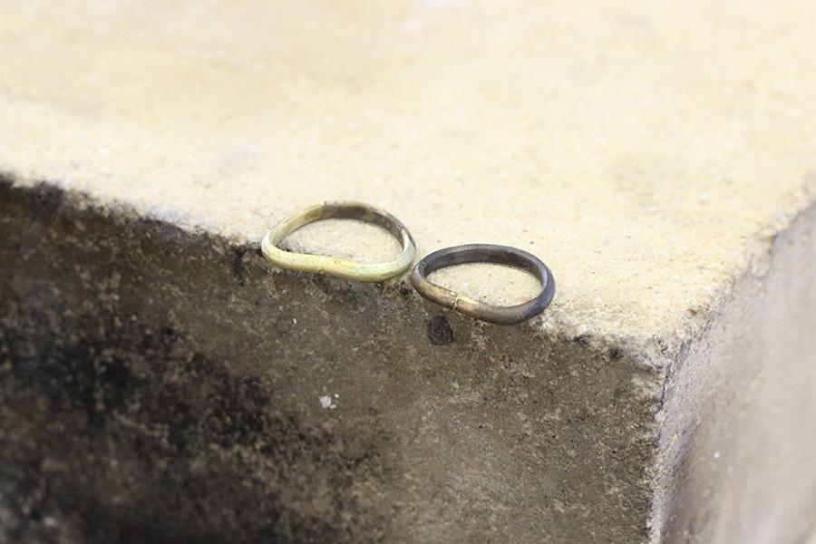 結婚指輪手作りI様5