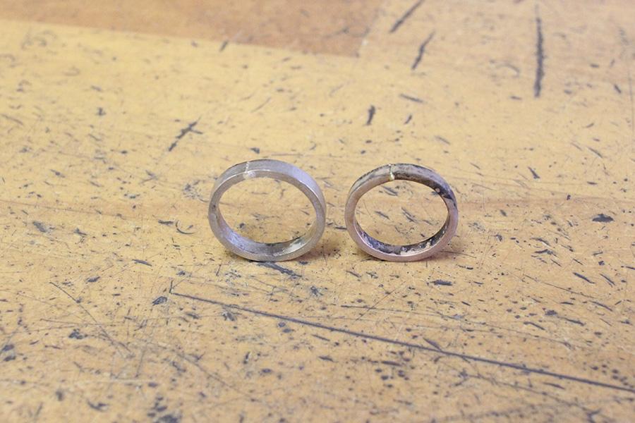 手作り結婚指輪O様8