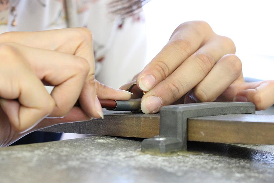 結婚指輪手作りI様8