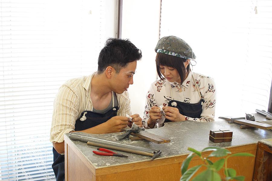 結婚指輪手作りI様9