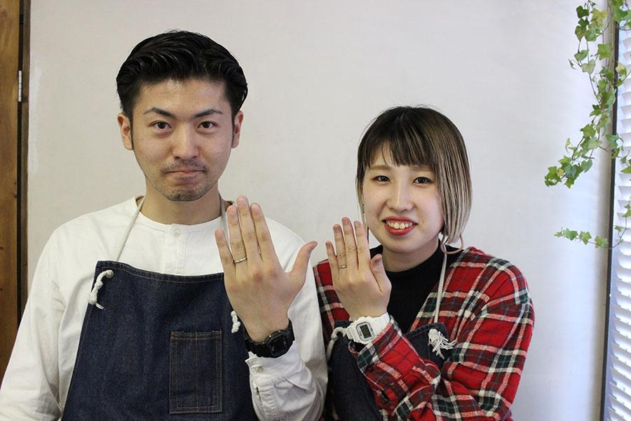 手作り結婚指輪K様20