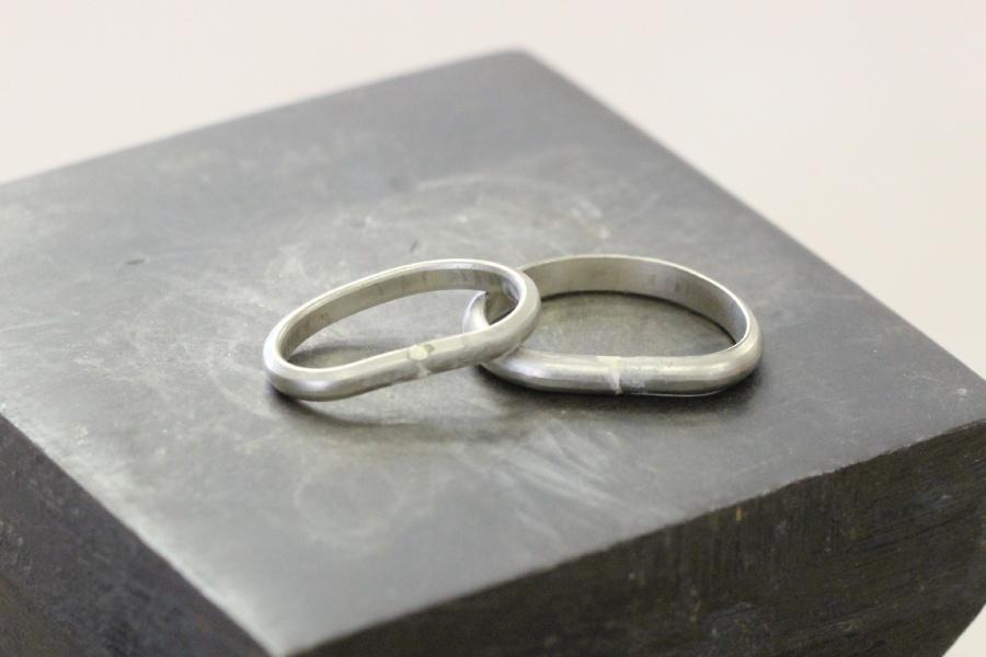 手作り結婚指輪K様26