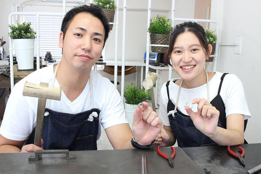 手作り結婚指輪H&M様7