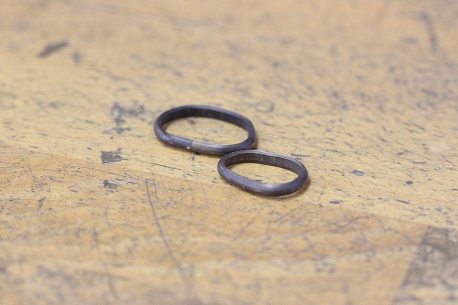 手作り結婚指輪A様8