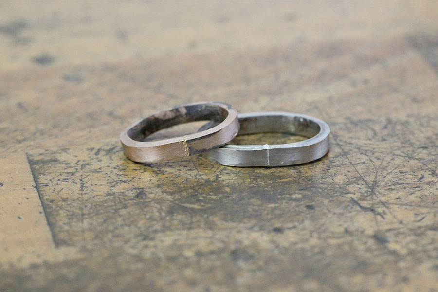 手作り結婚指輪M&K様8