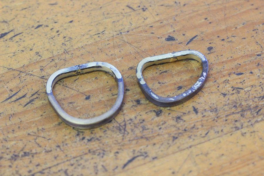 手作り結婚指輪K&M様8
