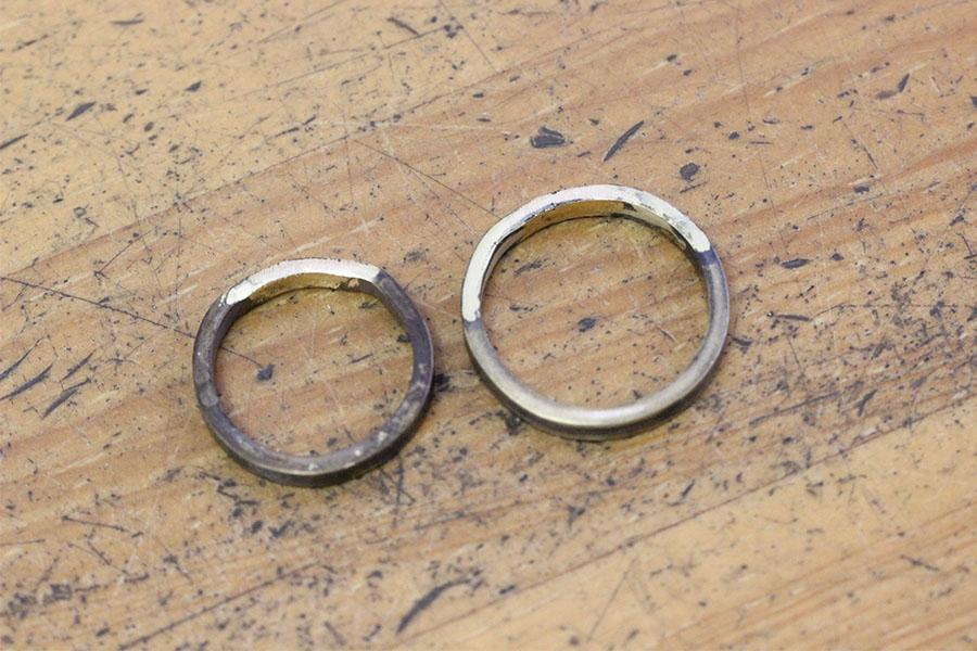 手作り結婚指輪K&M様10