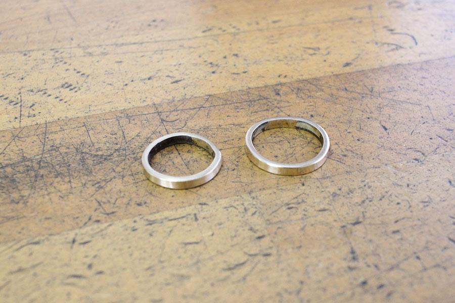 手作り結婚指輪K&M様12
