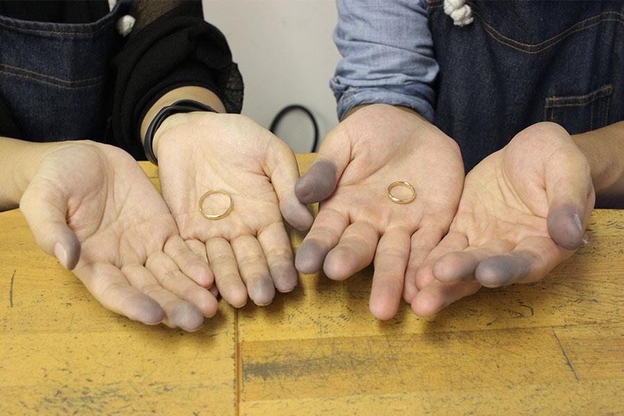 手作り結婚指輪A様20