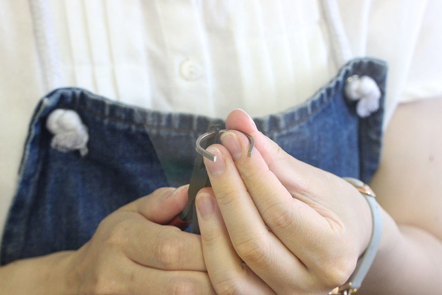 手作り結婚指輪K&M様5