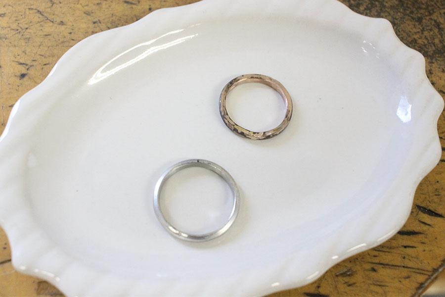 手作り結婚指輪M&U様5