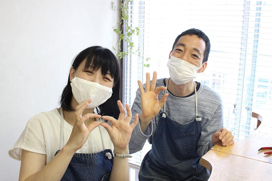 手作り結婚指輪K&M様11