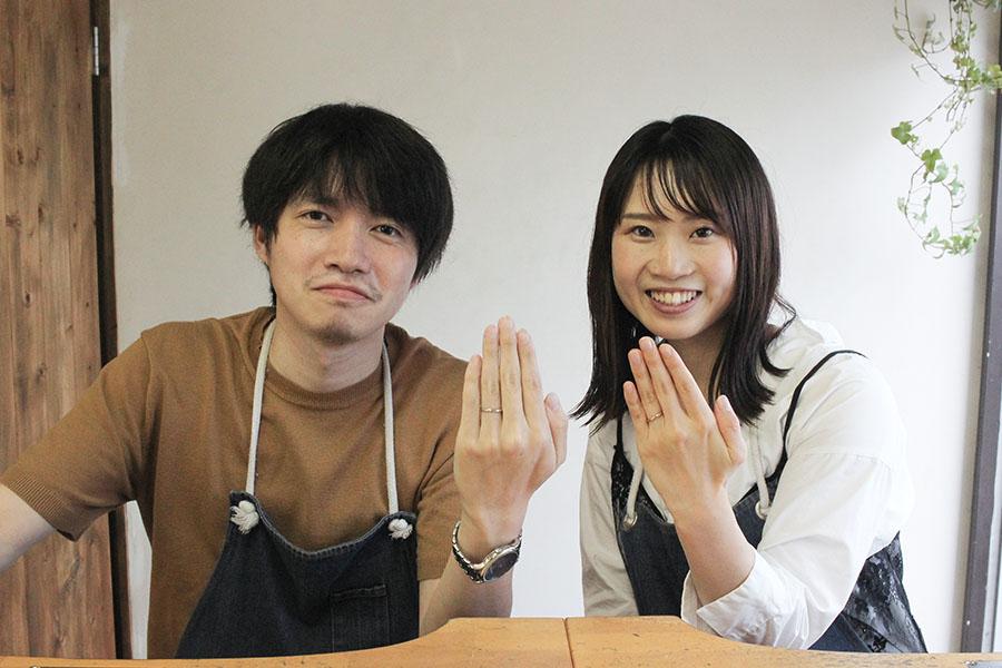 手作り結婚指輪M&U様14