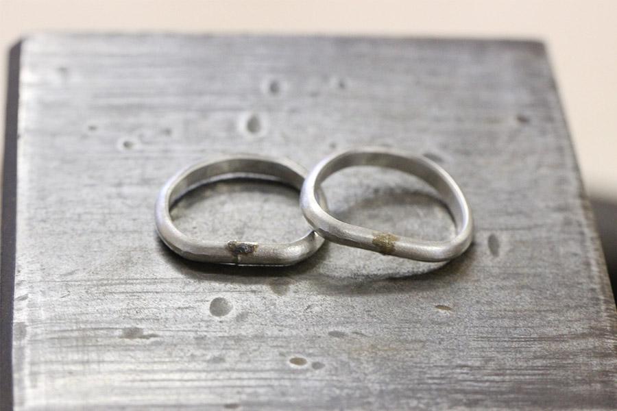 手作り結婚指輪S&I様9
