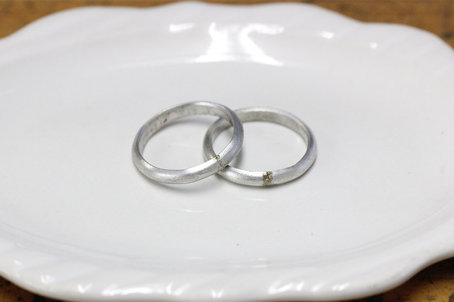 手作り結婚指輪S&I様11