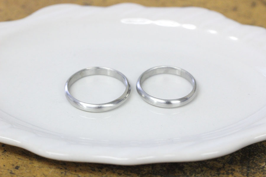 手作り結婚指輪M様12
