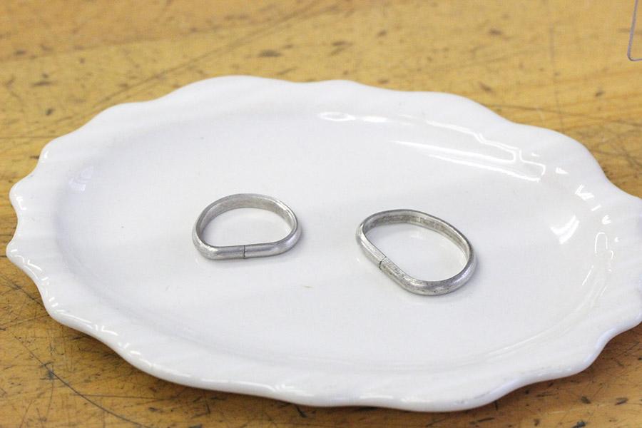 手作り結婚指輪O&K様6