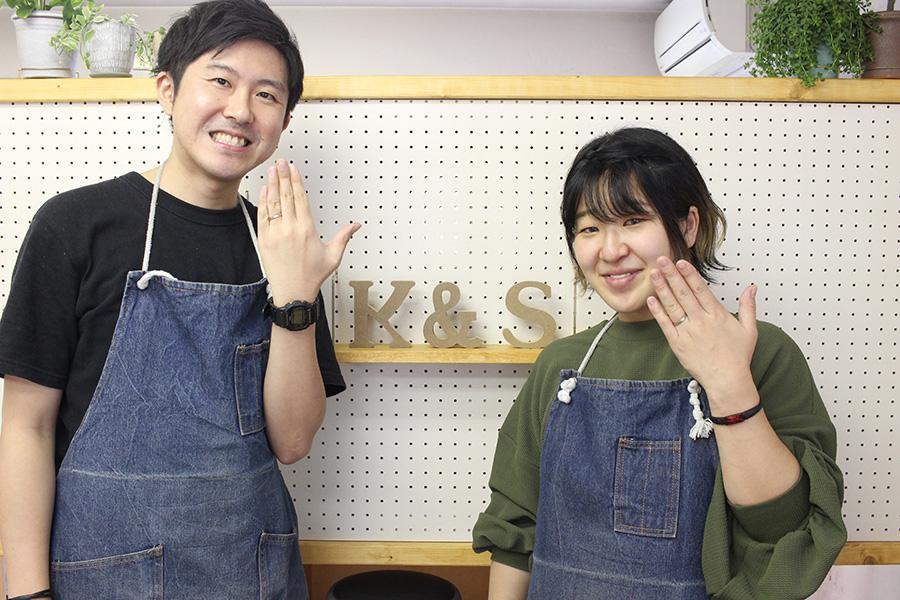 手作り結婚指輪K&S様14