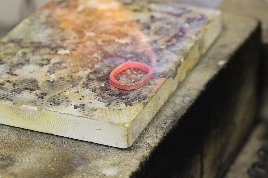手作り結婚指輪T&W様12