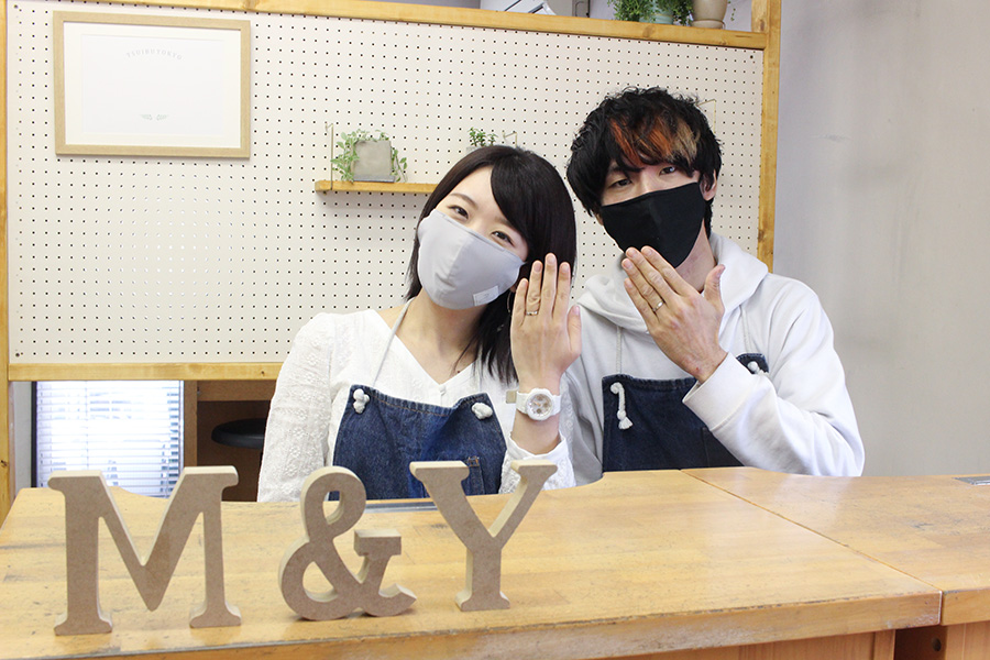 手作り結婚指輪Z様17