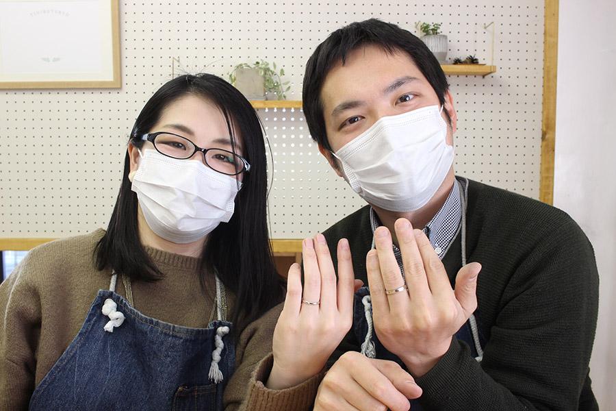 手作り結婚指輪S様H様13