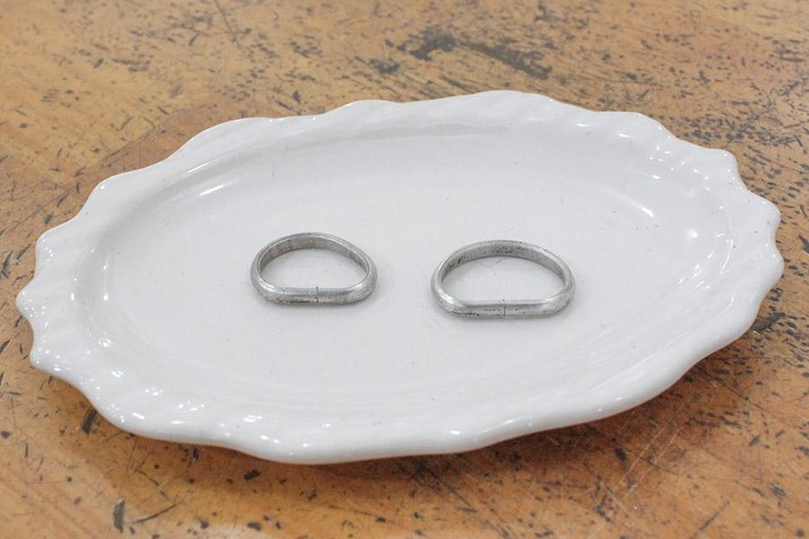 手作り結婚指輪I&M様4