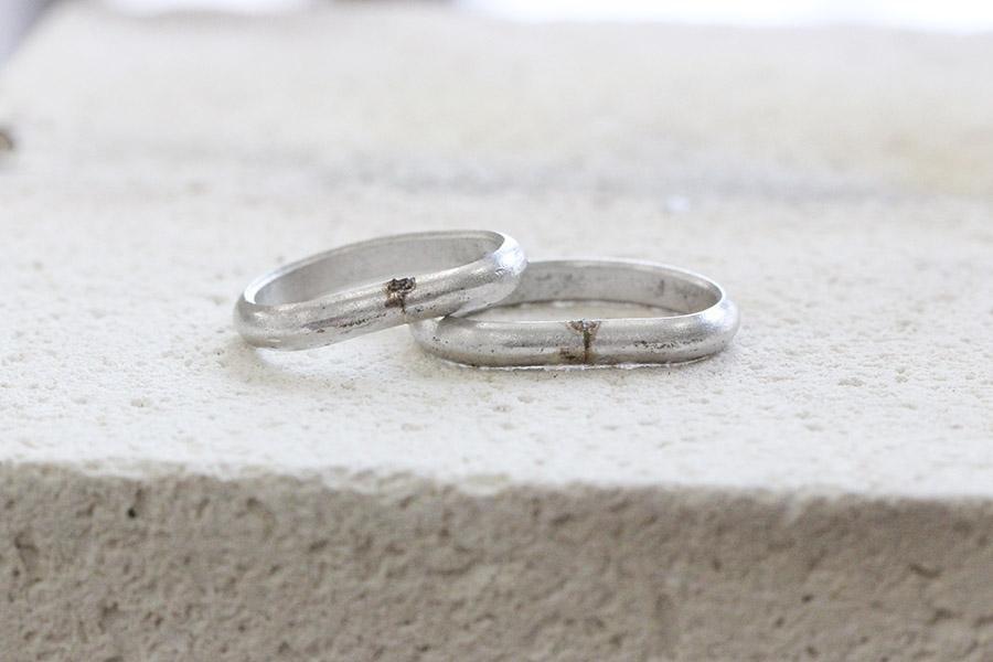 手作り結婚指輪I&M様6