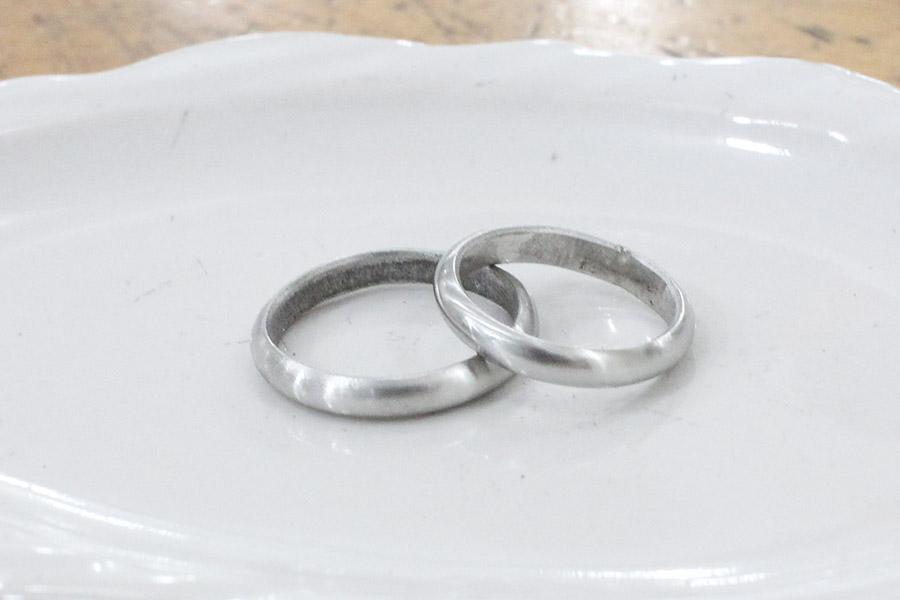 手作り結婚指輪I&M様9