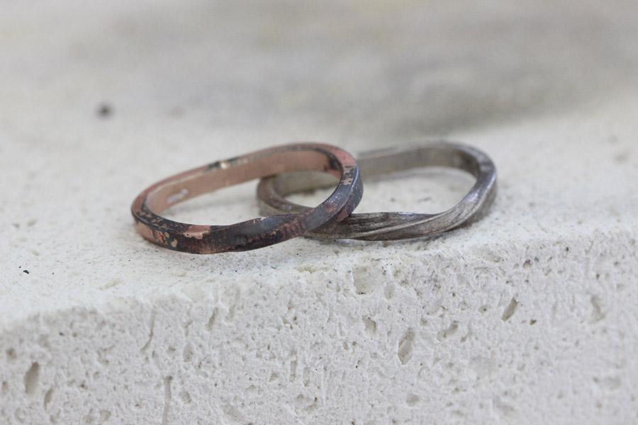 手作り結婚指輪O&O様11