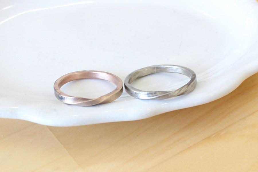 手作り結婚指輪O&O様13