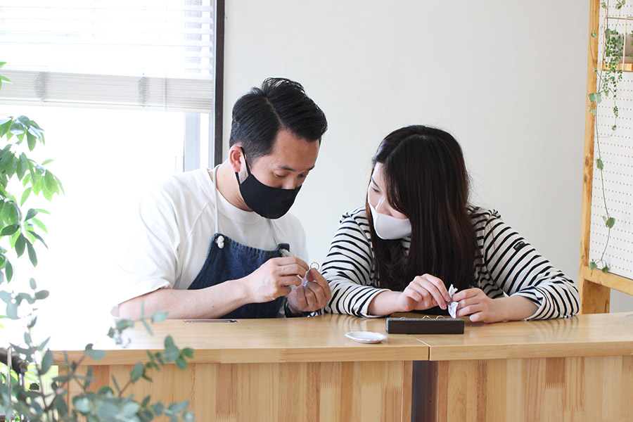 手作り結婚指輪O&O様15