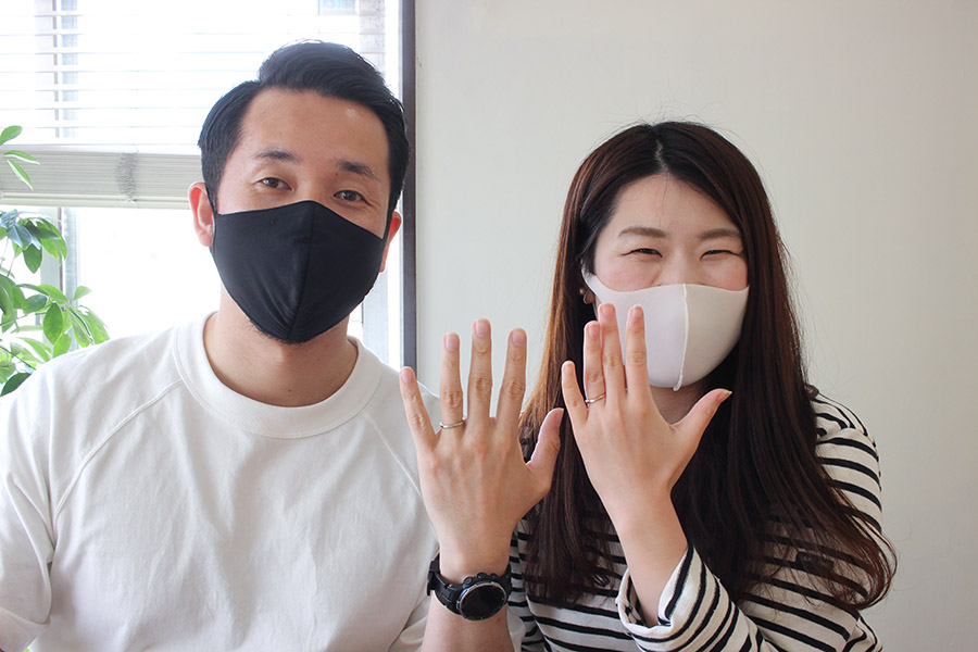手作り結婚指輪O&O様17